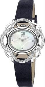 Citizen Women's Lobella Crystal Flower Leather Strap for only $157, get it at Price Hunters Watches