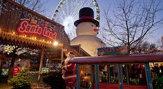 Winter wonderland in Hyde Park, London