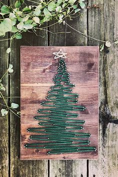 $30 Christmas Tree - String Art - Christmas Decor - Merry Christmas #oybpinners