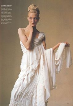 """""""How To Wear Couture"""". Maggie Rizer photographed by Irving Penn for US Vogue, April 2000"""