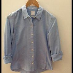 GAP Button Down Shirt GAP Button Down Shirt - color: pale blue GAP Tops Button Down Shirts