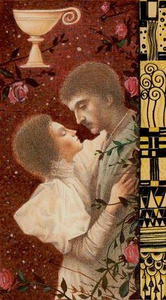 Tarot de Klimt par A. Atanassov lás de coupes