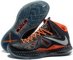 low cost b130e 95d39 Nike Lebron 10 Elite BHM Black History Month Black Orange Running Shoes Nike,  Nike Free
