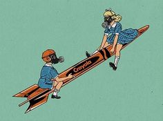 Rocket Crayola by DangrLab Portrait Illustration, Digital Illustration, Fiction, Photo And Video, Trending Outfits, Inspiration, Etsy, Vintage, Kid Portraits