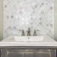Ordinaire Hampton Carrara Marble Arabesque Mosaic Tile For Fireplace?