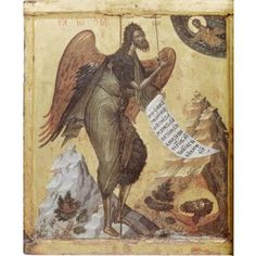 St John the Baptist Angel of the Desert; Athos, Monastery of Pantokrator Byzantine Icons, Byzantine Art, Religious Icons, Religious Art, Religious Paintings, Paint Icon, Russian Icons, Jean Baptiste, Best Icons