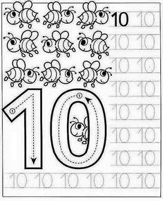 New System-Suitable Numbers Line Study - Preschool Children Akctivitiys Kindergarten Math Worksheets, Preschool Curriculum, Preschool Printables, Preschool Lessons, Preschool Activities, Preschool Writing, Numbers Preschool, Preschool Learning, Writing Numbers
