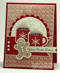 by Ann Schach. I like the steam stamped on vellum & die cut. Could use the candy cane with peppermint ep.