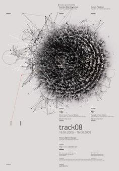 This graphics in this poster looks cool and complex. The type looks simple, clean and has very good hierarchy though.
