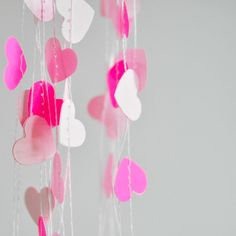 Tiny Hearts Paper Garland Neon Pink ~ 3GIRLSandaGOAT
