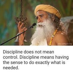 Sadhguru on discipline Spiritual Quotes, Positive Quotes, Spiritual People, Cool Words, Wise Words, Wise Quotes, Inspirational Quotes, Mystic Quotes, Zen