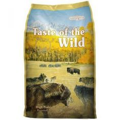 Taste of the Wild Dry Dog Food, Hi Prairie Canine Formula with Roasted Bison Grain-free dog food for all life stages With lean bison and venison meat, roasted for great flavor Cooking Venison, Bison Recipes, Best Dry Dog Food, Best Dog Food Brands, Dog Food Reviews, Grain Free Dog Food, Dog Activities, Shopping, Pets