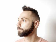 Hair by Kai!  #menshair #mensgrooming #Orlando #hardpart #pompadour #beard #lakeeola #redscarletsalon #redscarlet