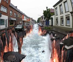 Imagine walking out of your apartment to find this.. O.o