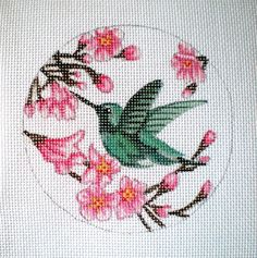 Handpainted Hummingbird Needlepoint Canvas by colors1 on Etsy (Craft Supplies & Tools, Sewing & Needlecraft Supplies, Canvas & Stitchables, ornament, hummingbird, flowers, animal, birds, embroidery, pattern, cross stitch, needlecraft, needlepoint, needlepoint canvas, needlepoint pillow, needlepoint pattern)