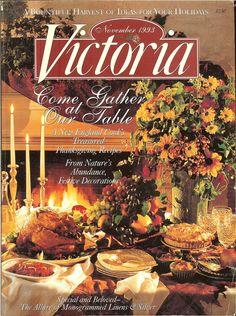 Victoria Magazine - November 1993 -New England Thanksgiving - Festive Decorating