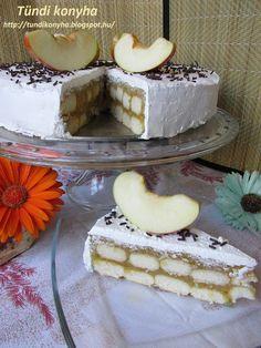 Tündi konyha: Sütés nélküli almatorta Izu, Vanilla Cake, Tiramisu, Camembert Cheese, Muffin, Dairy, Ethnic Recipes, Food, Essen