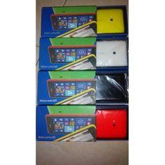 PROMO NGABISIN STOCK 4 UNIT LAGIPRODUK BARU (SEGEL) ORIGINAL GARANSI RESMI NOKIA 1 TAHUNCOLOUR: YELLOW, WHITE, BLACK, REDOperating SystemSoftware release: Windows Phone 8.1 dengan Lumia CyanTampilanUkuran layar: 4,7 ''Resolusi layar: WVGA (800 x 480)Warna tampilan: TrueColor (24-bit/16 M)MemoriMemori massal internal1: 8 GBRAM: 512 MBKartu memori yang dapat ditambah - ukuran maksimal: 64 GBJenis kartu memori yang dapat ditambah: MicroSDBaterai3Replaceable battery: TidakKapasitas baterai…