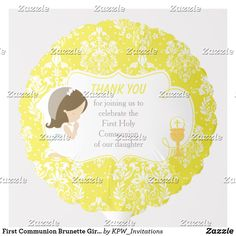 Shop First Communion Brunette Girl Gold Damask Balloon created by KPW_Invitations. Helium Gas, Photo Balloons, First Communion Invitations, Balloon Shapes, Gold Girl, Custom Balloons, First Holy Communion, Brunette Girl, Invitation Design