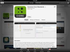 Common core standard iPad app. Go to apple store to download free app.