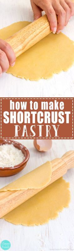 How to make Shortcrust Pastry - Easy recipe for Shortcrust Pastry. This pastry is great for making tarts, pies, galettes or biscuits. It can be prepared ahead & stored in the fridge