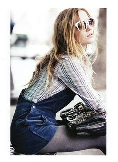 Short overalls with tights!!!--winterized