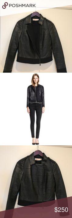 Tory Burch - Lila Leather Blac Leather Jacket Tory Burch Lila Leather Jacket black color size 4. Worn only a couple times. Like new!! Tory Burch Jackets & Coats