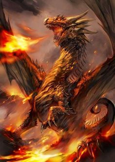 Great fire dragon from Beast The Dragon