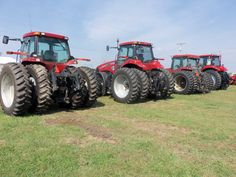 Lineup of CaseIH Magnum tractors from Farmers Equipment.