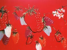 Mural of strawberries on Grand Ave in Arroyo Grande, CA probably in honor of the annual Strawberry Festival.