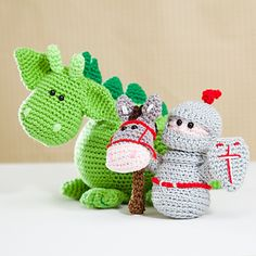 Dibbes the dragon, Sir Roderick and his trusty steed-pattern by Tessa van Riet