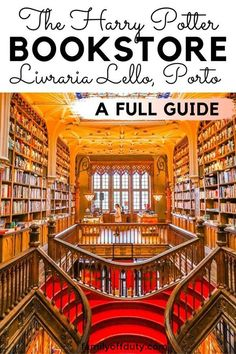 Tips to visit Lello bookstore Porto Portugal, Lello bookstore, Lello library, lello bookstore harry potter, livraria lello bookstore guide. Portugal Travel Guide, Europe Travel Guide, Europe Destinations, Packing Tips For Travel, Spain Travel, Travel Guides, Travel Goals, Holiday Destinations, Porto Portugal