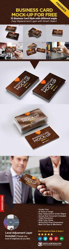 BUSINESS CARD MOCK-UP FOR FREE  Download Here : http://www.zestladesign.com/blog/business-card-mockup-psd-free