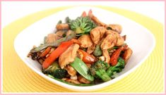 Easy Lemon Chicken Stir Fry Recipe Fox And Briar. Chicken And Broccoli Stir Fry Healthy Fitness Meals. Seitan And Vegetable Stir Fry Recipe Pickled Plum Food . Home and Family Fried Vegetables, Chicken And Vegetables, Veggies, Chicken Veggie Stir Fry Recipe, Chicken Recipes, Healthy Chicken, Chicken Meals, Teriyaki Chicken, Chicken Tacos