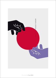 Francois_caspar_homage-To-Shigeo-Fukuda modern graphic design, japanese graphic design, graphic Graphic Design Posters, Graphic Design Illustration, Graphic Art, Illustration Art, Plakat Design, How To Make Toys, Japanese Graphic Design, Print Layout, Cover Design