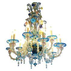 Venetian multicolored glass six light chandelier venetian venetian multicolored glass six light chandelier venetian chandeliers and pendant lighting aloadofball Gallery