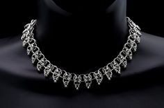 Warrior Princess chainmaille collar necklace by TralalaLTD on Etsy