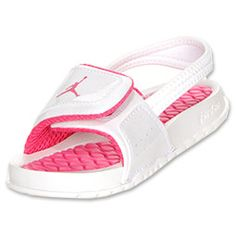 The Jordan Hydro 2 Toddler Sandals! Definately buying these for adrianna Baby Girl Sandals, Toddler Sandals, Girls Sandals, Baby Girl Shoes, Girls Shoes, Shoes Women, Pink Jordans, Baby Jordans, Jordans Girls