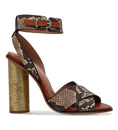 8fe754477407 KURT GEIGER LONDON Talbot snakeskin-print sandals