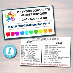 EDITABLE PTO PTA Form Template Sponsership Membership Donation Signup Printable Handout School Finance Fundraiser Event Instant Download