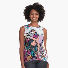' Sleeveless Top by WackyJacks Hip Hop Girl, Spring Tops, Dance Music, Sell Your Art, Printing On Fabric, Chiffon, Sleeveless Tops, Mens Tops, Printed
