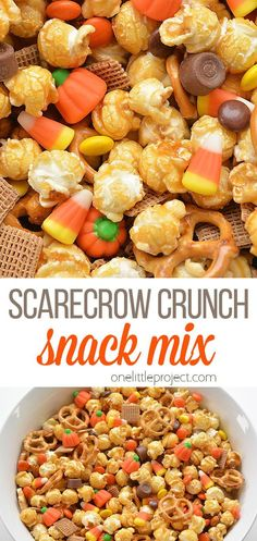 Halloween Trail Mix Recipe, Easy Halloween Snacks, Halloween Popcorn, Halloween Food For Party, Thanksgiving Snacks, Fall Snacks, Holiday Snacks, Thanksgiving Trail Mix Recipe, Fall Trail Mix Recipe
