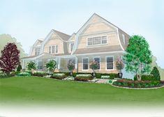 hampton designer showhouse landscaping sketch