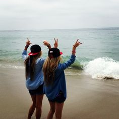 Laguna Beach Love waves tide beach Laguna beach denim matching sisters bffs summer fun California love