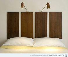 tête de lit originale créative en bois