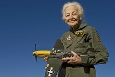 """Betty """"Tack"""" Blake was a Women's Air Force Service pilot during World War II and a graduate of the first graduating class in 1943 near by erna"""