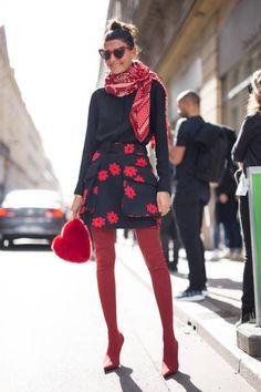 Giovanna Battaglia Engelbert is seen attending Acne Studios during Paris Fashion Week wearing Acne Studios on September 30 2017 in Paris France