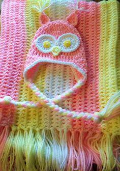Cute Crochet For Kids, Crochet Baby, Owls, Baby Kids, Arts And Crafts, Kawaii, Blanket, Cute, Owl