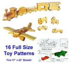 Build a variety of wooden toys for the kids in your life with this plan pack!