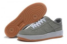 wholesale dealer b1eb6 b6420 great deals on men s nike air force 1 low suede shoes grey white-sandy  brown cheap sales outlet store